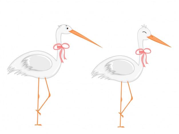 Ensemble d'animaux en vecteur isolé. illustrations mignonnes d'animaux de dessin animé