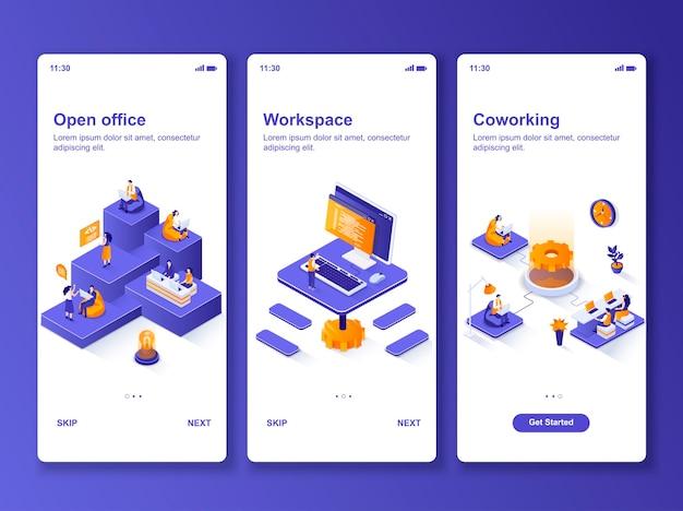 Ensemble d'applications open office isométrique