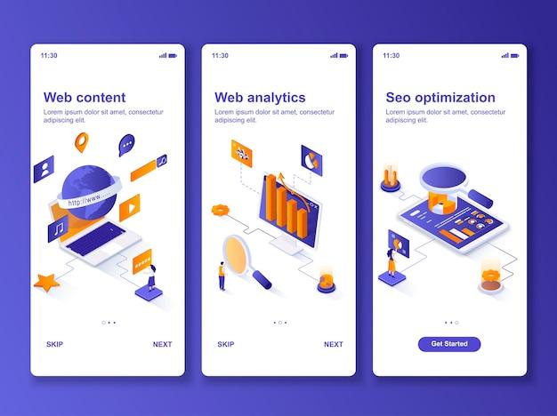 Ensemble d'applications web analytics isométrique