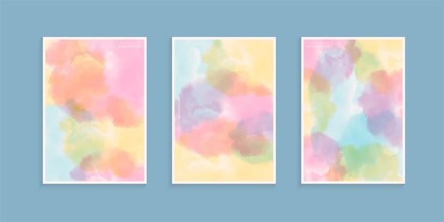 Ensemble aquarelle coloré