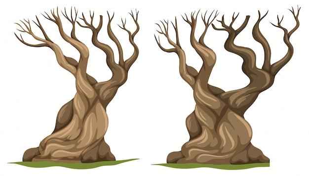 Ensemble d'arbre mort