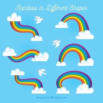 Ensemble arc-en-ciel coloré