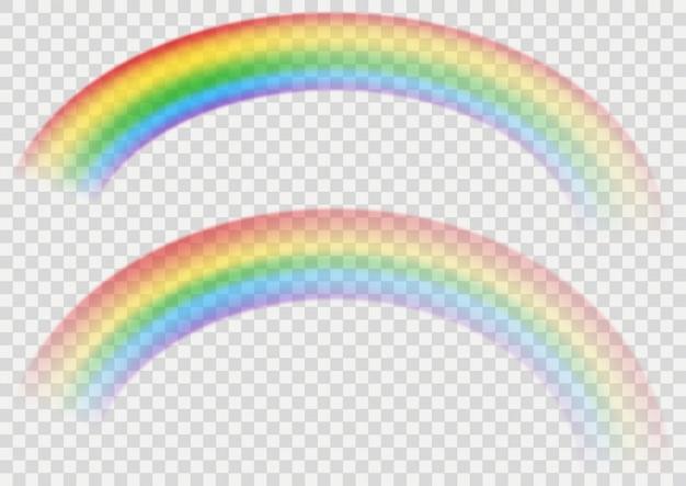 Ensemble d'arc-en-ciel avec effet transparent