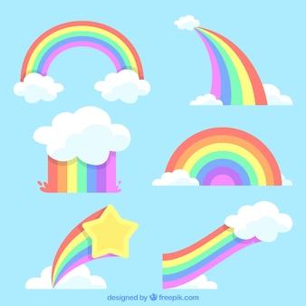 Arc en ciel nuage vecteurs et photos gratuites - Image arc en ciel gratuite ...