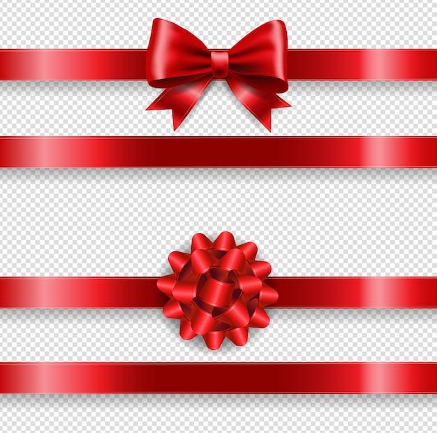 Ensemble d'arc rouge en soie et fond transparent
