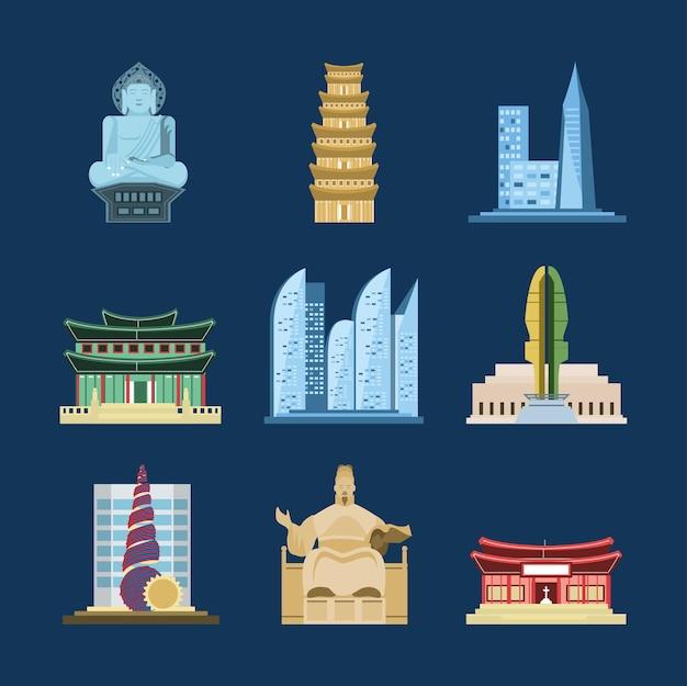 Ensemble d'architecture coréenne