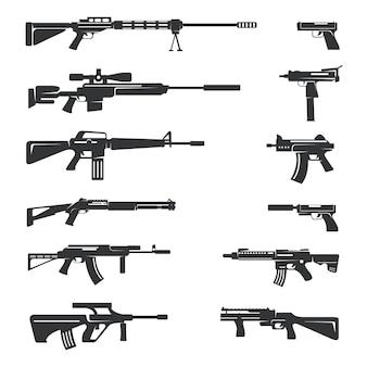 Ensemble d'armes à feu