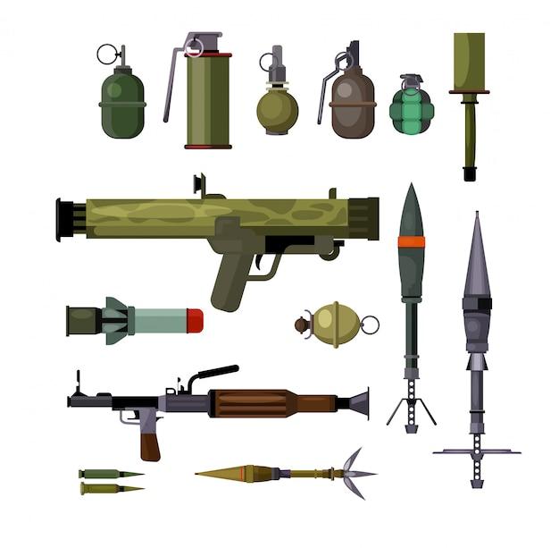 Ensemble d'armes militaires