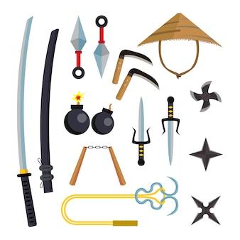 Ensemble d'armes ninja