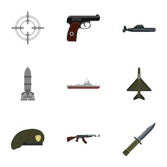 Ensemble d'armes, style plat