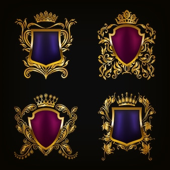 Ensemble d'armoiries boucliers décoratifs