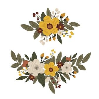Ensemble d'arrangements floraux