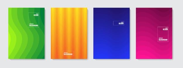 Ensemble d'arrière-plans abstraits colorés