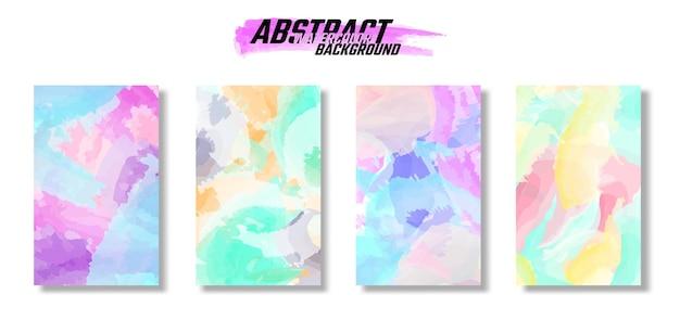 Ensemble d'arrière-plans colorés à l'aquarelle de texture abstraite