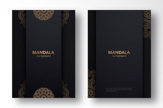 Ensemble d'arrière-plans de mandala de luxe