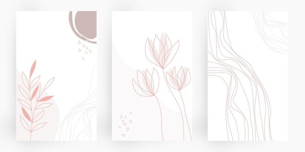 Ensemble d'arrière-plans organiques abstraits style organique