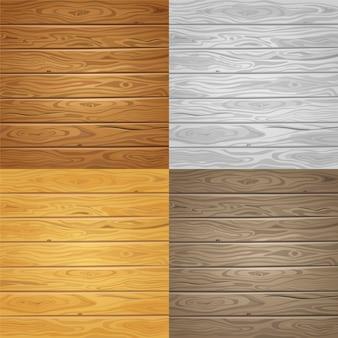 Ensemble d'arrière-plans de texture bois