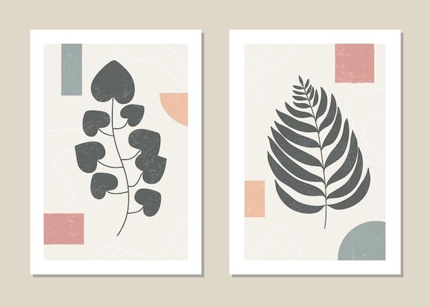 Ensemble d'art mural botanique.