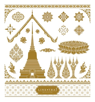 Ensemble d'art thaïlandais