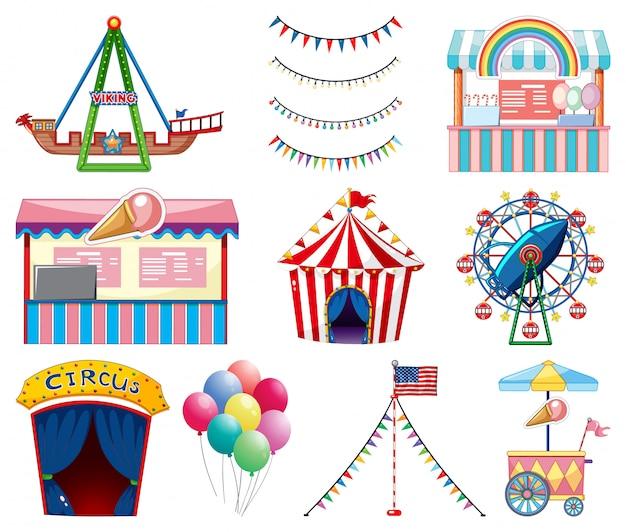 Ensemble d'articles de cirque