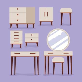 Ensemble d'articles de mobilier