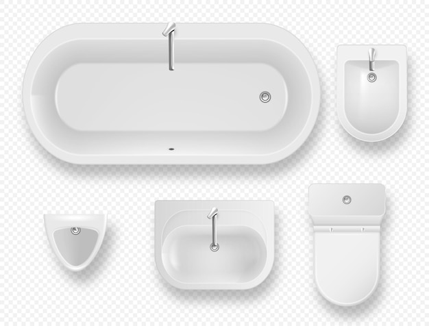 Ensemble d'articles de toilette modernes d'équipement de salle de bain