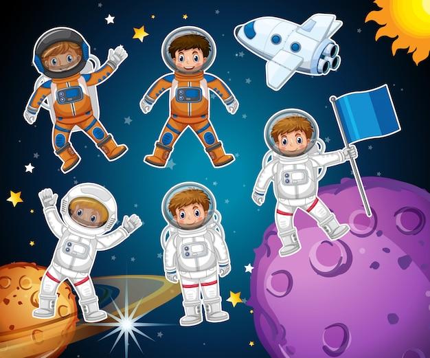 Un ensemble d'astronaute dans l'espace