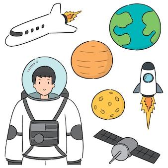 Ensemble d'astronaute