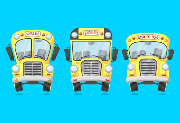 Ensemble d'autobus scolaire