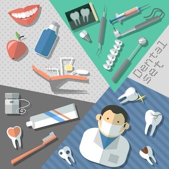 Ensemble d'autocollants dentaires