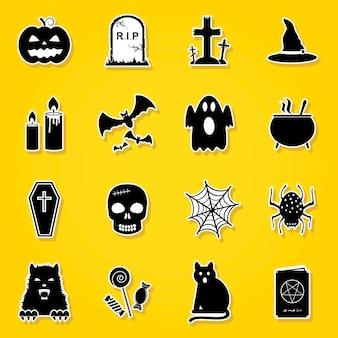 Ensemble d'autocollants d'halloween