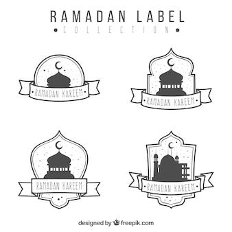 Ensemble d'autocollants kareem ramadan dessinés à la main