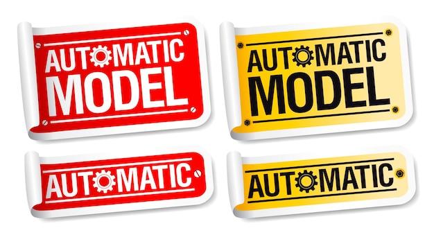 Ensemble d'autocollants de modèle automatique