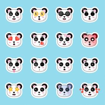 Ensemble d'autocollants panda mignon