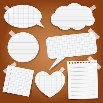 Ensemble d'autocollants en papier avec du ruban adhésif