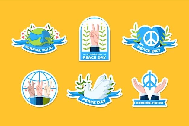 Ensemble d'autocollants pour la journée internationale de la paix