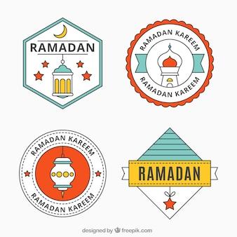 Ensemble autocollants ramadan