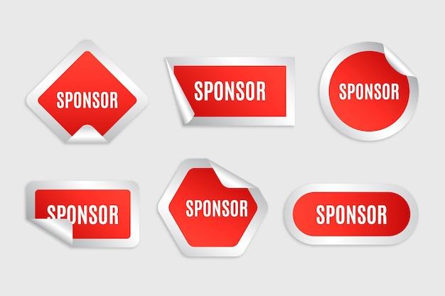 Ensemble d'autocollants de sponsor rouge