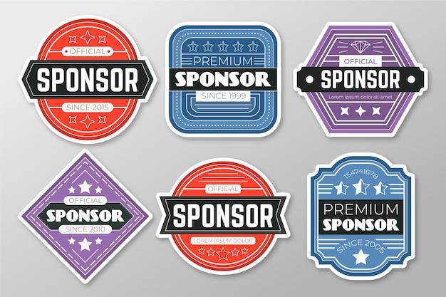 Ensemble d'autocollants de sponsor