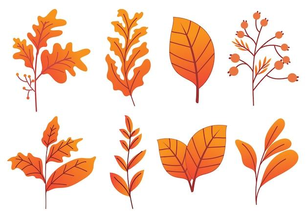 Ensemble d'automne dessiné à la main