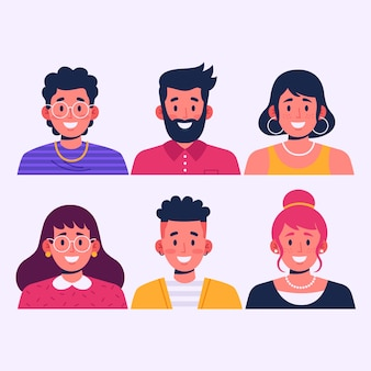 Ensemble d'avatars de personnes