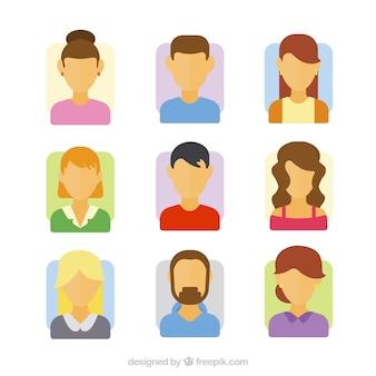 Ensemble d'avatars sans visages