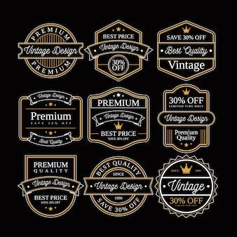 Ensemble de badge et étiquette retro vintage