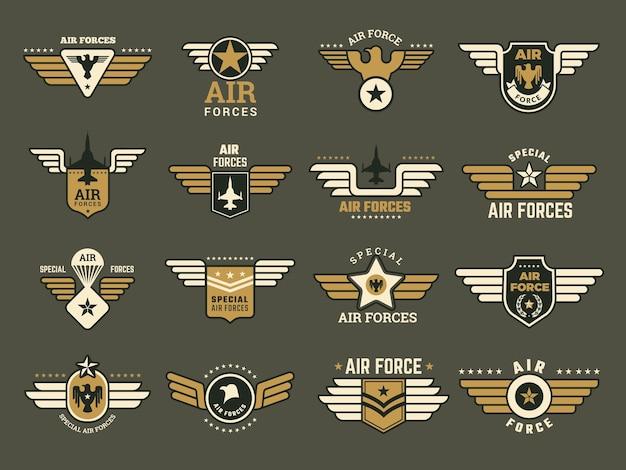 Ensemble De Badges De L'armée Vecteur Premium