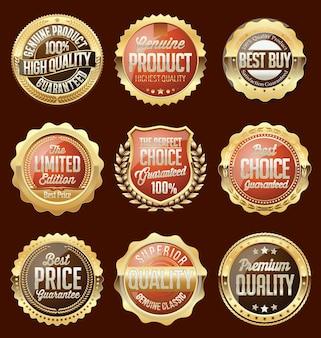 Ensemble de badges et autocollants de vente