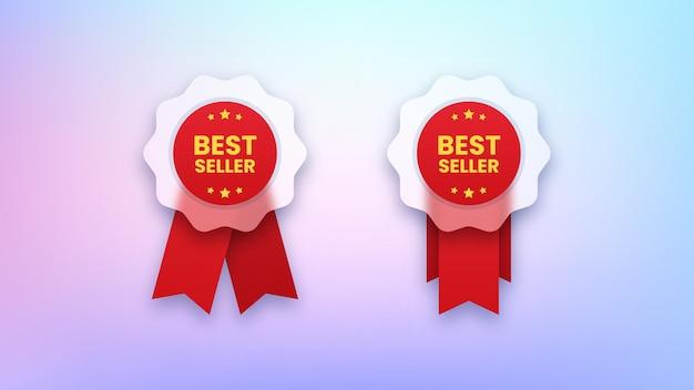 Ensemble de badges best-seller
