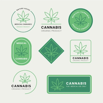 Ensemble de badges de cannabis médical