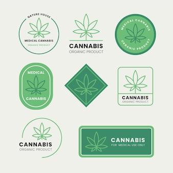 Ensemble de badges de cannabis médical