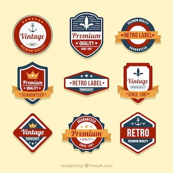 Ensemble de badges dans le style vintage