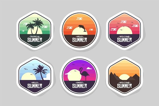 Ensemble de badges d'été